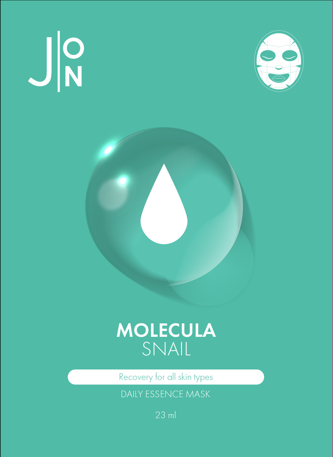 НАБОР/Тканевая маска для лица УЛИТОЧНЫЙ МУЦИН MOLECULA SNAIL DAILY ESSENCE MASK 23 мл Корейская косметика от J:on